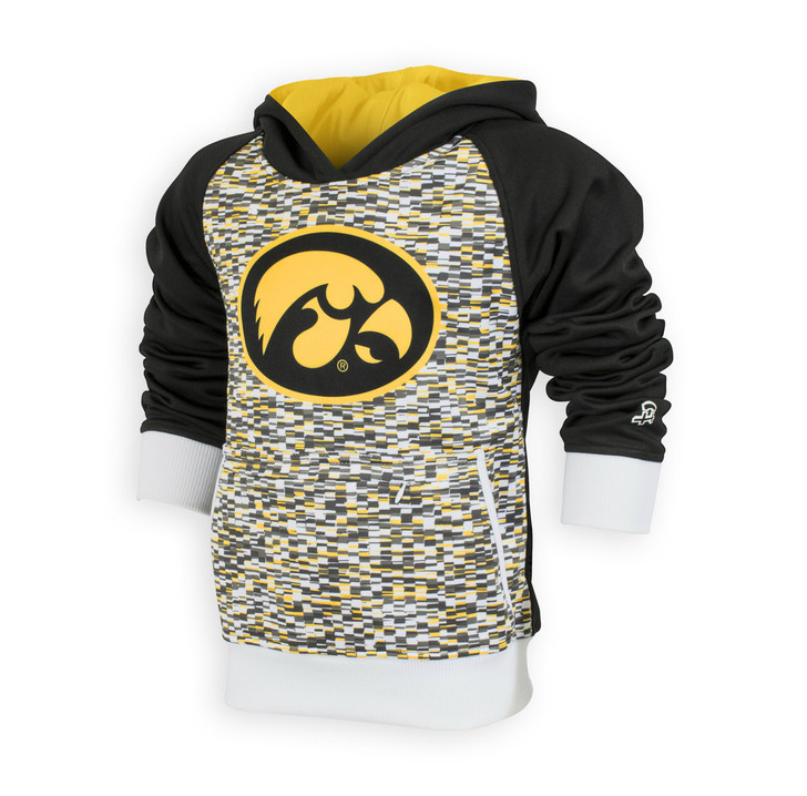 Iowa Hawkeyes Black and Gold Youth Hoodie - Skylar