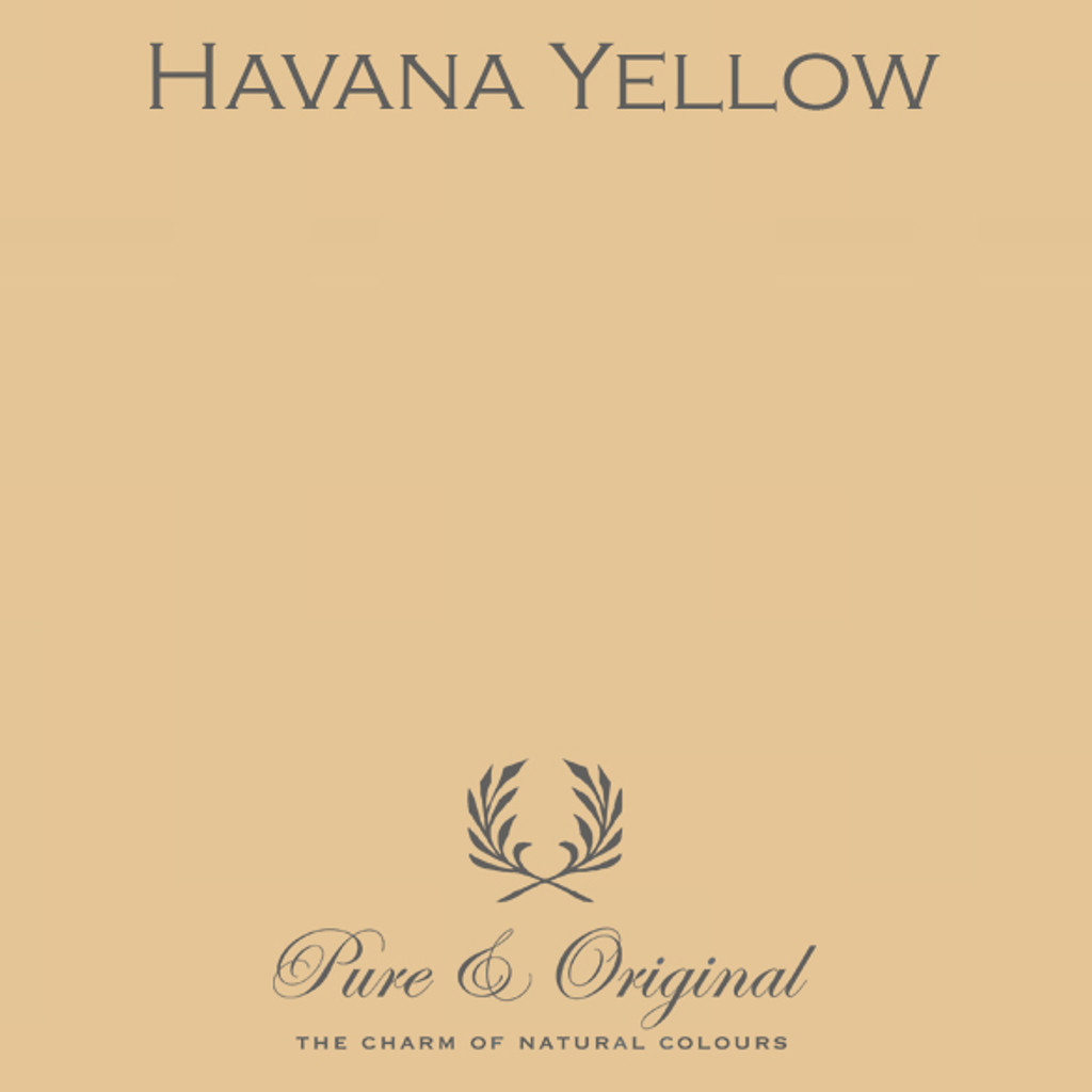 Pure & Original Fresco Lime Paint in Havana Yellow (Also Available in Classico Chalk Based Paint and Marrakech Wall Paint)