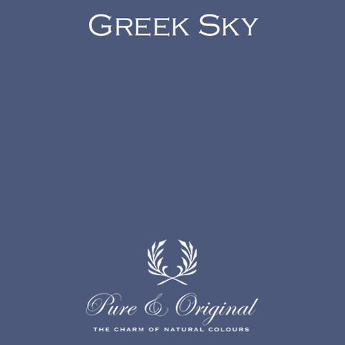 Pure & Original Classico Chalk Based Paint in Greek Sky (Also Available in Fresco Lime Paint and Marrakech Wall Paint)