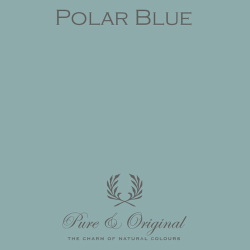 Pure & Original Classico Chalk Based Paint in Polar Blue (Also Available in Fresco Lime Paint and Marrakech Wall Paint)