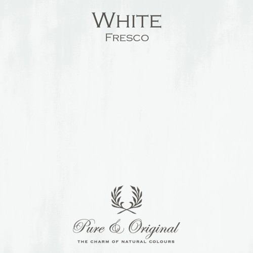 Pure & Original Fresco Lime Paint in White (Also Available in Classico Chalk Based Paint and Marrakech Wall Paint)