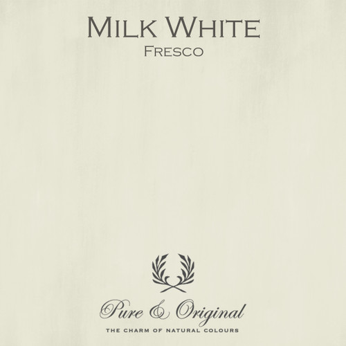 Pure & Original Fresco Lime Paint in Milk White (Also Available in Classico Chalk Based Paint and Marrakech Wall Paint)