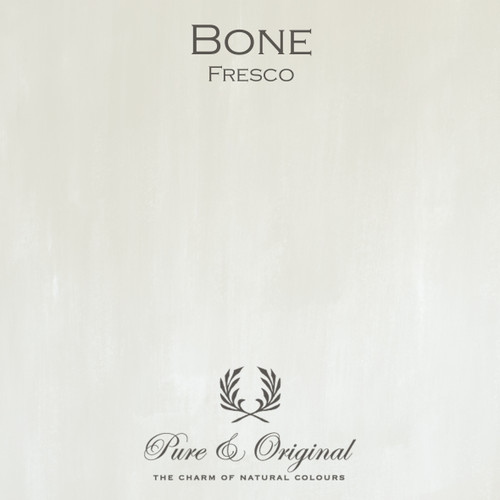 Pure & Original Fresco Lime Paint in Bone (Also Available in Classico Chalk Based Paint and Marrakech Wall Paint)