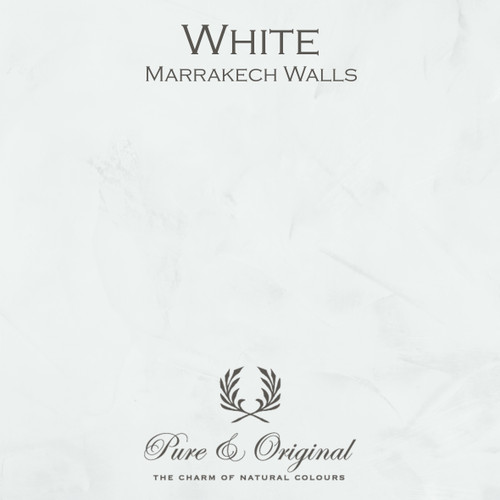 Pure & Original Marrakech Wall Paint in White (Also available in Classico Chalk Based Paint or Fresco Lime Paint)