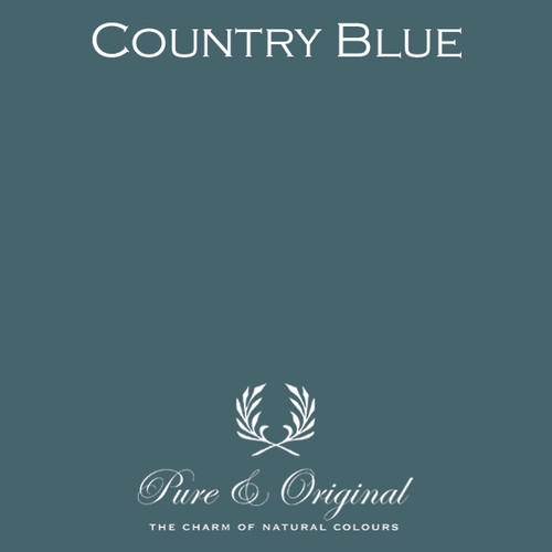 Pure & Original Fresco Lime Paint in Country Blue (Also Available in Classico Chalk Based Paint and Marrakech Wall Paint)