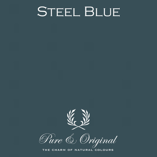 Pure & Original Marrakech Wall Paint in Steel Blue (Also available in Classico Chalk Based Paint or Fresco Lime Paint)