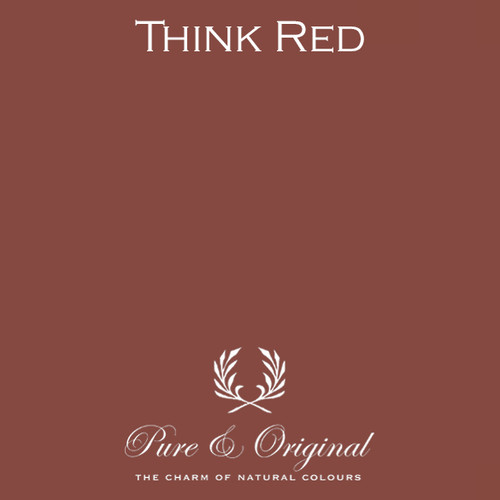 Pure & Original Marrakech Wall Paint in Think Red (Also available in Classico Chalk Based Paint or Fresco Lime Paint)
