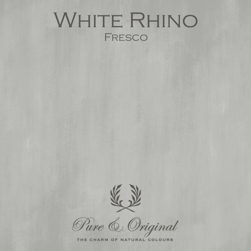 Pure & Original Fresco Lime Paint in White Rhino (Also available in Classico Chalk Based Paint or Marrakech Wall Paint)
