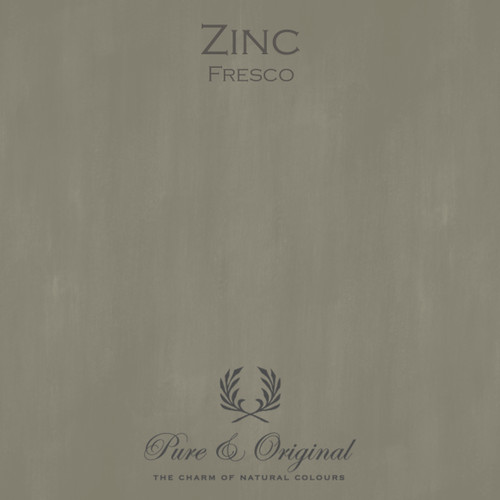 Pure & Original Fresco Lime Paint in Zinc (Also Available in Classico Chalk Based Paint and Marrakech Wall Paint)