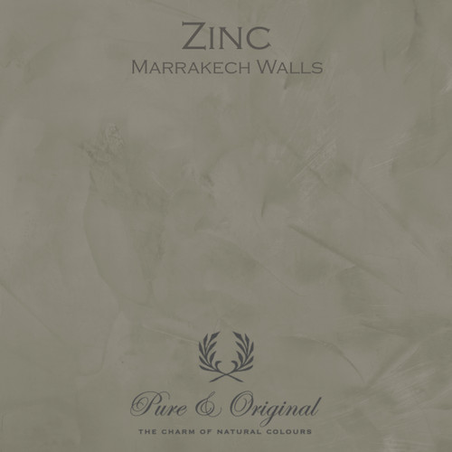 Pure & Original Marrakech Wall Paint in Zinc (Also available in Classico Chalk Based Paint or Fresco Lime Paint)