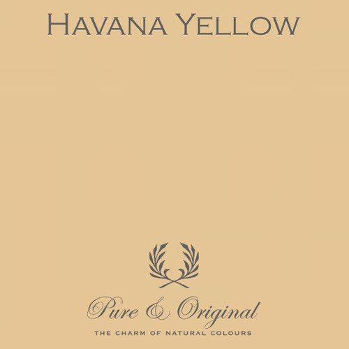 Pure & Original Marrakech Wall Paint in Havana Yellow (Also available in Classico Chalk Based Paint or Fresco Lime Paint)