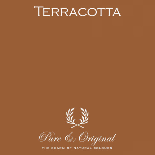 Pure & Original Fresco Lime Paint in Terracotta (Also Available in Classico Chalk Based Paint and Marrakech Wall Paint)