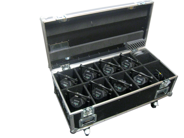Astera LED AX7 Spotlite and AX10 Spotmax Event Light Charging Case- 8 pack ~ www.Astera-LEDs.com ~ 407-956-5337 (LEDS)