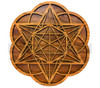 Star Tetrahedron Hexagon Seed of Life Two Layer Wall Art (Cherry & Walnut) - 4 Sizes available