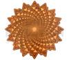 Organic Spiral Vortex Wall Art (Cherry & Walnut) - 3 Sizes available