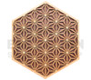 Asanoha Pattern Wall Art (Maple on Cherry on Walnut) - 4 Sizes available
