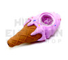 "4"" Silicone Ice Cream Sundae Handpipe (assorted colors)"