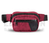 6.5″ x 2.25″ x 5″ Hipster Lockable Odor Protection Fanny Pack by Skunk - Burgundy