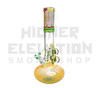 "HVY 13"" 50x5Mil Flame Top & Fumed Single Bubble w/ Flower Inlay & 3 Marbles (assorted colors)"