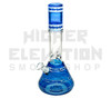 """HVY 14"""" 50x5Mil Mid Wave Art Top & Bottom Beaker w/ Flower Inlay (assorted colors)"""