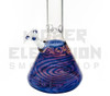 """HVY 20"""" 50x5Mil Coiled Color w/ Gold & Silver Top & Bottom Beaker (assorted colors)"""