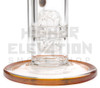"""14"""" Envy Glass Sculpted Neck Stemless w/Crater Perc w/ 18.8mil G.O.G. (assorted colors)"""