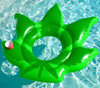 """Giant 64"""" x 64"""" Weed Leaf Pool Float w/ Cup Holder by Higher Elevation"""