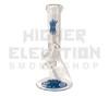 "10"" 32mil Mini Waterpipe w/ Wig Wag & Reversal Bake On Logo - Blue"