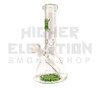 "10"" 32mil Mini Waterpipe w/ Wig Wag & Reversal Bake On Logo - Green"