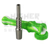 Silicone Vapor Straw w/ 14mil Titanium Tip - Assorted Colors