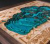 "3D Wood Map Lake Tahoe Medium 13"" X 17"""