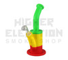"Pulsar 9"" Rip Silicone Rig w/ Quartz Banger - Tie Dye - Rasta (Out of Stock)"