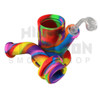 "Pulsar 9"" Rip Silicone Rig w/ Quartz Banger - Tie Dye - Glow in the Dark (Out of Stock)"
