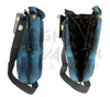 """Vatra 14"""" Brand New Blue Plaid Waterpipe Pipe Case Tube Bag"""