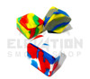 "2.5"" Cube Silicone Container - Assorted Colors"
