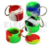 """1.25"""" Key Chain Silicone Jar - Assorted Colors"""