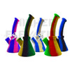 "8.5"" Silicone Bent Neck Beaker Water Pipe - Assorted Colors"