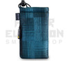 "6.5"" Drawstring  Pipe Bag w/ Zipper Pocket by Vatra - Blue Plaid"