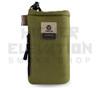 "6.5"" Drawstring  Pipe Bag w/ Zipper Pocket by Vatra - Green Hemp"