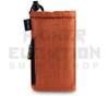 "6.5"" Drawstring  Pipe Bag w/ Zipper Pocket by Vatra - Orange Woven"