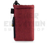"6.5"" Drawstring  Pipe Bag w/ Zipper Pocket by Vatra - Burgundy Woven"