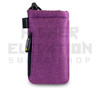 "6.5"" Drawstring  Pipe Bag w/ Zipper Pocket by Vatra - Purple Woven"