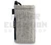 """6.5"""" Drawstring  Pipe Bag w/ Zipper Pocket by Vatra - Khaki Brown Woven"""