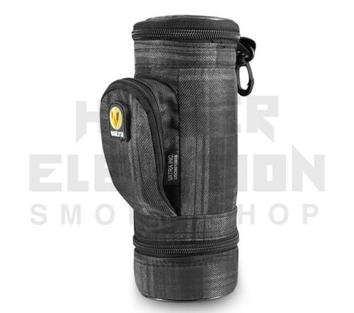 "8.5"" Matrix Pipe Case w/ Grinder Compartment by Vatra - Black Plaid"