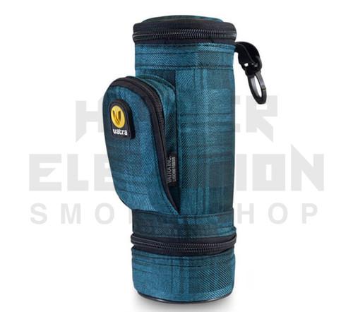 "8.5"" Matrix Pipe Case w/ Grinder Compartment by Vatra - Blue Plaid"