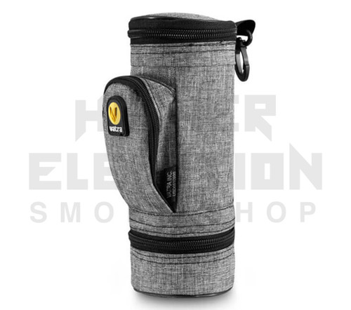 """8.5"""" Matrix Pipe Case w/ Grinder Compartment by Vatra - Gray Woven"""