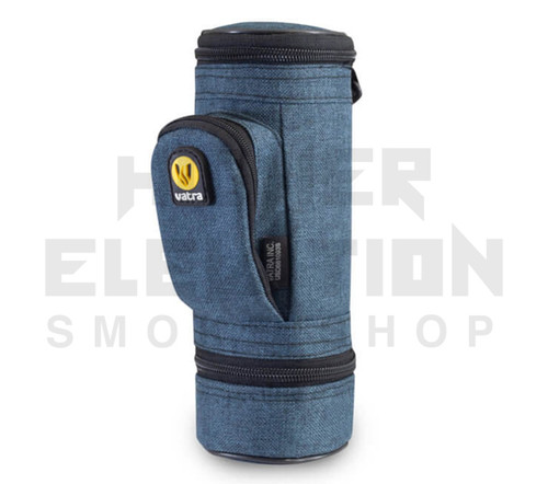 """8.5"""" Matrix Pipe Case w/ Grinder Compartment by Vatra - Blue Woven"""