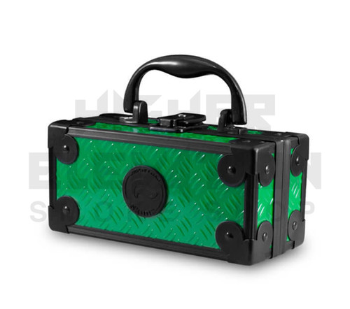 """6.5"""" x 3"""" x 3"""" Lock N Load  Aluminum Pipe Mod Vape Case by Vatra - Green (Out of Stock)"""