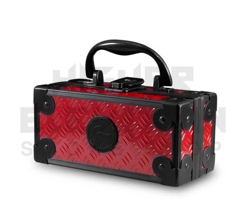"""6.5"""" x 3"""" x 3"""" Lock N Load  Aluminum Pipe Mod Vape Case by Vatra - Red (Out of Stock)"""