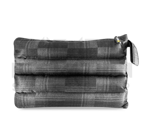 "11"" x 6.5"" Zip Pipe Bubbler Bag by Vatra - Black Plaid"